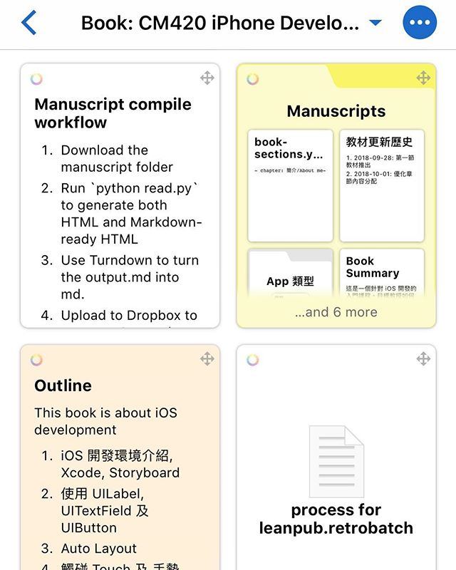 Created a workflow to write books in Basecamp and export to web reader and Leanpub PDF.