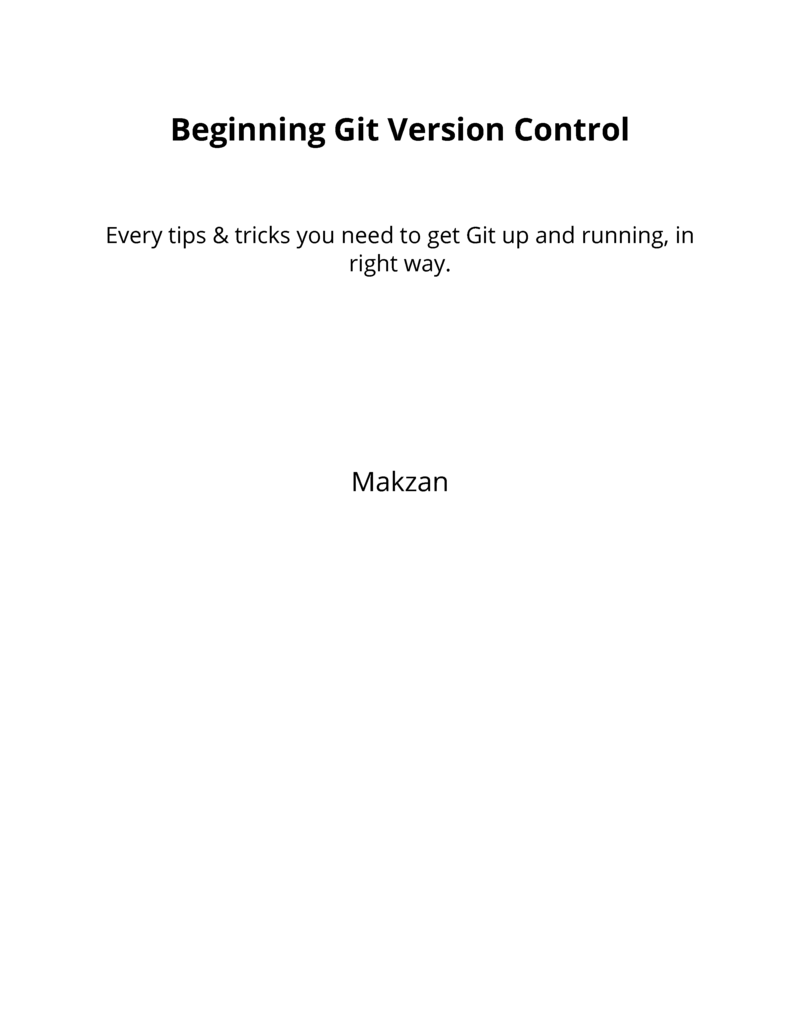 Book cover of Beginning Git Version Control